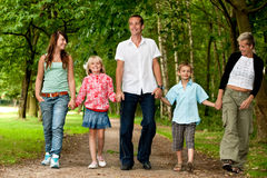 Big family walk Royalty Free Stock Photography