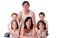Big family in white royalty free stock image