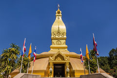 Big famous golden pagoda in thailand Stock Photography