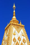 Big famous pagoda on blue sky background. Big famous pagoda in Thailand Stock Photos