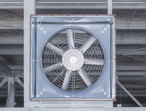 Big fan. For sucking air inside to outside of factory Stock Photography