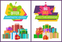 Big Fantastic Sale Offer Only This Weekend Posters Stock Photos