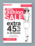 Big Fashion Sale Poster, Banner or Flyer. Stock Photos