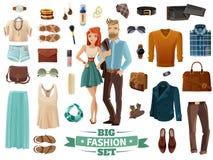 Big Fashion Set Stock Photography