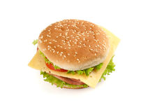 Big fast food sandwich Royalty Free Stock Photos