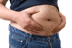 Big fat belly Stock Images