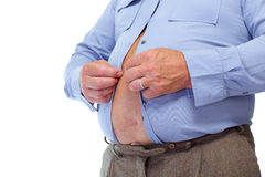 Big fat belly. Royalty Free Stock Photos