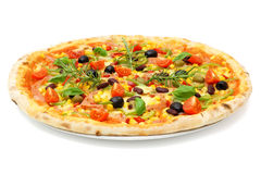 Big fat italian pizza Royalty Free Stock Photography