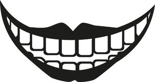 Big fat laughing mouth with lips. Icon Royalty Free Stock Photos