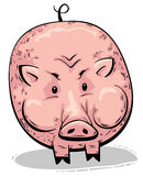 Big fat pink pig Royalty Free Stock Photography