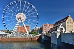 Big ferries wheel in Gdansk Royalty Free Stock Photos