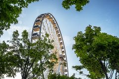Big ferries wheel in Montreal royalty free stock photos