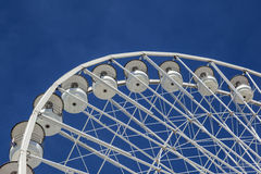 Big ferris wheel against a blue sky in Marseilles Royalty Free Stock Images