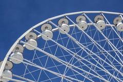 Big ferris wheel against a blue sky in Marseilles Royalty Free Stock Photos