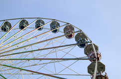 Big ferris wheel in attraction park Stock Images