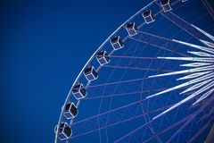 Big Ferris wheel with beautiful sky at night. Big Ferris wheel with beautiful sky at Asiatique night in Thailand royalty free stock photography