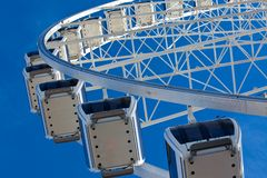 Big ferris wheel on blue sky background Royalty Free Stock Images