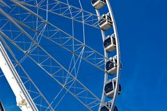 Big ferris wheel on blue sky background Stock Photography