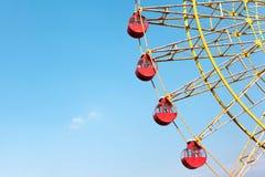Big Ferris Wheel with Blue Sky Background. The Ferris wheel is in kobe mosaic , Kansai Kobe , Japan Stock Image