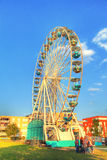 A big ferris wheel on a carnuval Stock Photography