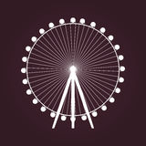 Big Ferris wheel icon. Stock Image