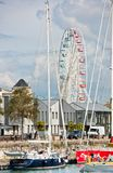 Big ferris wheel in La Rochelle port, France stock photography
