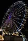 Big ferris wheel with night time, in Essen, Germany Royalty Free Stock Images