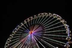 Big ferris wheel with night time, in Essen, Germany Royalty Free Stock Photos