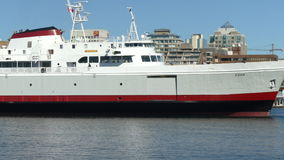 Big ferry boat floating, Victoria, BC stock video