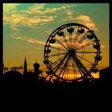 Big ferry wheel silhouette Royalty Free Stock Photos