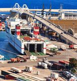 Big ferryboat Super Fast Galicia at Port Vell. Stock Photography