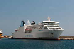 Big ferrys in port of Bastia Royalty Free Stock Photography