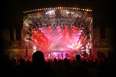 Big festival stage royalty free stock images