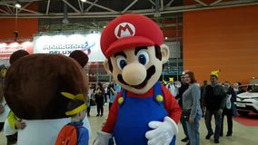 Big figure of the game character Mario stock video footage