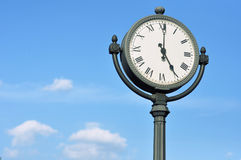 The big figured street clock Stock Images