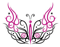 Big filigree butterfly Stock Photography