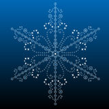 Big filigree detailed snowflake Royalty Free Stock Photography