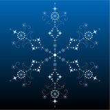 Big filigree detailed snowflake Stock Images