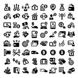 Big finance icons set stock illustration