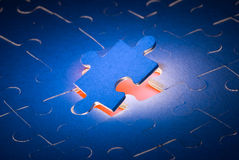 The big find. The dark blue puzzles. It is a symbol (the decision of all problems Royalty Free Illustration