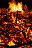 The big fire. Detailed admission of a big fire, in germany to need is lighted Stock Photo