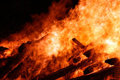 The big fire Royalty Free Stock Photos