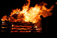 The big fire Stock Photo