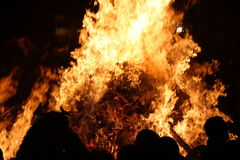 Big fire Stock Photography