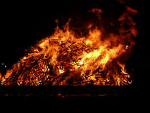Big fire. Big bonfire with huge flames Royalty Free Stock Image