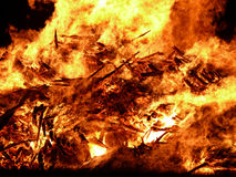 Big fire. Big bonfire with huge flames Royalty Free Stock Images