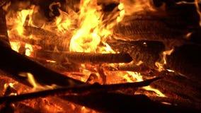 Big fire burns. Holiday. Big fire burns. Holiday Beautiful look stock footage