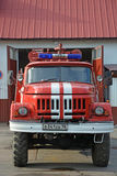 Big fire-engine truck Stock Images