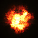 Big fire explosion. 2d illustration of a big fire explosion Stock Photography