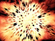 Big fire explosion with lots of black particles Royalty Free Stock Image